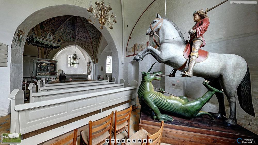 Broager Kirke - med Sct Georg og dragen
